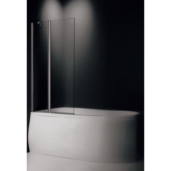 TV2 Профиль Brilliant, стекло прозрачноеДушевые ограждения<br>Шторка на ванну Roltechnik TV2 732-9700000-00-02. Ширина входа: c1=430 мм, c2=540 мм. Безопасное стекло толщиной 6 мм с покрытием Nanoglass II (защита от водного камня и простота в уходе за чистотой стекла).<br>