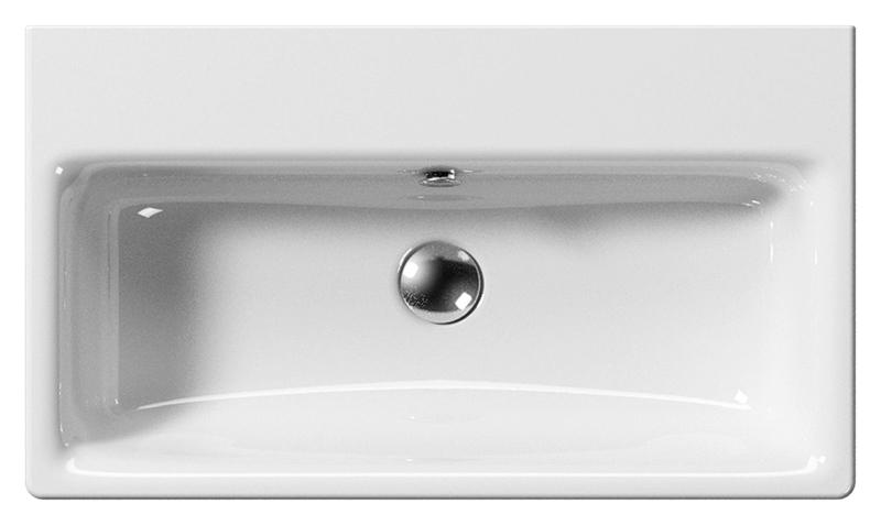 Sand 70 9087111 белаяРаковины<br>Раковина подвесная GSI Sand 70 9087111, одно отверстие для слива-перелива, одно пробитое отверстие для смесителя и два намеченных. Раковина подвешивается или встраивается в стену. Цена указана за раковину. Все остальное приобретается дополнительно.<br>
