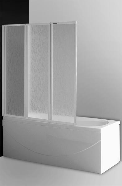 CH3/1220 Профиль белый/стекло barkДушевые ограждения<br>Шторка на ванну Roltechnik CH3/1220 329-1220000-04-01.  Ширина входа:  c1=393 мм, c2=393 мм, c3=393 мм. <br>Состоит из трех створок, размером по 480 мм.<br>