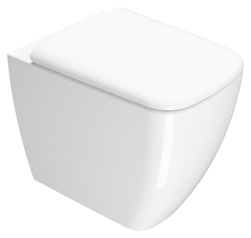 Sand 55 901411 белыйУнитазы<br>Унитаз приставной GSI Sand 55 901411, выпуск в стену. Дополнительно можно приобрести фановый патрубок, который перенаправит выпуск в пол. Цена указана за чашу унитаза. Все остальное приобретается дополнительно.<br>