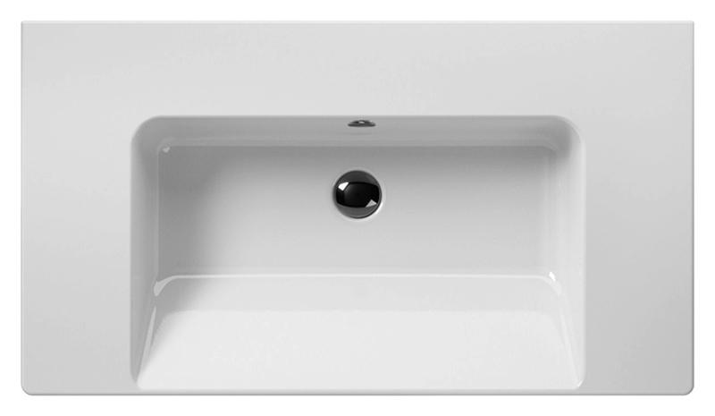 Norm 90 8688111 белаяРаковины<br>Раковина подвесная GSI Norm 90 8688111, с одним отверстием для слива-перелива, для смесителя на 1 отверстие или на 3 отверстия, или для настенного. Раковина подвешивается или встраивается в стену. Цена указана за раковину. Все остальное приобретается дополнительно.<br>