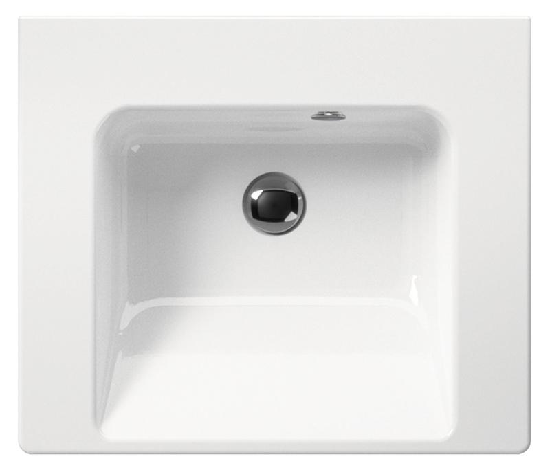 Norm 55 8686111 белаяРаковины<br>Раковина подвесная GSI Norm 55 8686111 с отверстием для слива-перелива.<br>