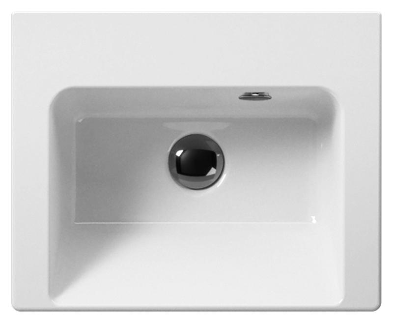 Norm 42 8684111 белаяРаковины<br>Раковина подвесная GSI Norm 42 8684111, с одним отверстием для слива-перелива и одним отверстием для смесителя. Раковина подвешивается или встраивается в стену. Цена указана за раковину. Все остальное приобретается дополнительно.<br>