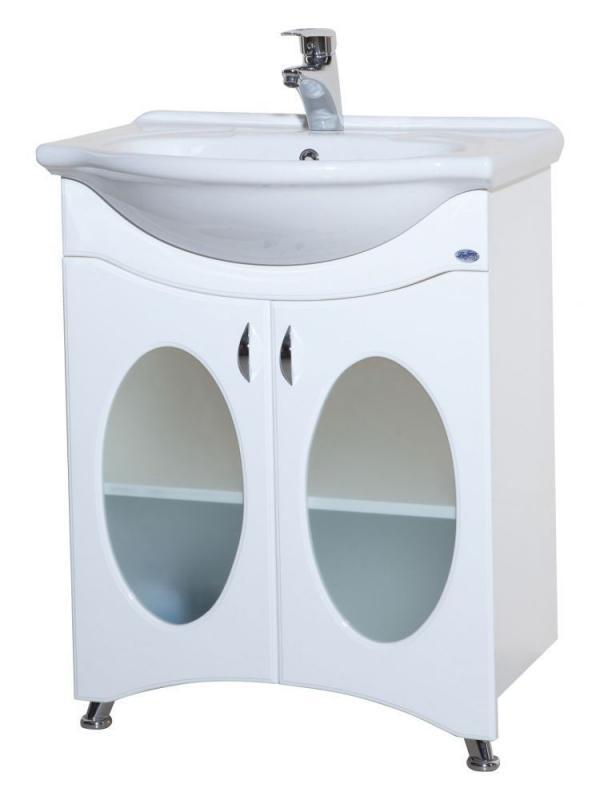 Агата 65 БелыйМебель для ванной<br>Тумба с раковиной Bellezza  Агата 65 имеет две распашные двери, за которыми располагается полка, разделяющая пространство для хранения. Товар поставляется в собранном виде, в картонной упаковке. Вам остается только прикрутить дверные ручки, и ножки снизу. В комплекте имеются крепежные элементы и вся необходимая фурнитура. Материал основы - Влагостойкий МДФ, ДСП фирма ( Kronospan ) Австрия. Материал покрытия - Эмаль, 4-х слойное лакокрасочное покрытие итальянской фирмы ( Sirca ). В цену включена только тумба, все остальное приобретается отдельно.<br>