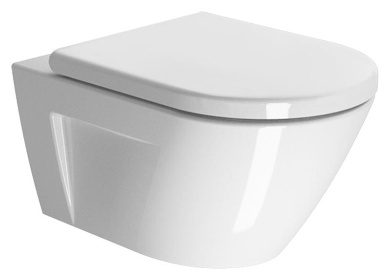 Унитаз GSI Norm 55 861211 белый раковина gsi norm 120 с 3 отверстиями