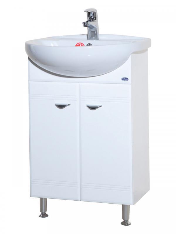 Антик 55 БелыйМебель для ванной<br>Тумба под раковину для ванной комнаты серии Антик 55 Bellezza поставляется в собранном виде, в картонной упаковке. Материал основы - Влагостойкий МДФ, ДСП фирма ( Kronospan ) Австрия. Материал покрытия - Эмаль, 4-х слойное лакокрасочное покрытие итальянской фирмы ( Sirca ). В цену включена только тумба, все остальное приобретается отдельно.<br>