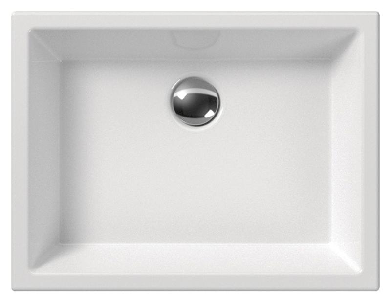 Kube 50/T 8982011 белаяРаковины<br>Раковина накладная GSI Kube Kube 50/T 8982011 без отверстия для слива-перелива, для настенной или настольной сантехнической арматуры. Устанавливается на опорных кронштейнах. Все внешние поверхности раковины полностью покрыты глазурью. Цена указана за раковину. Все остальное приобретается дополнительно.<br>