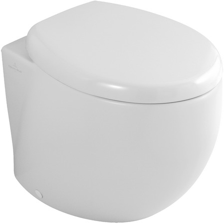 Aveo 661310R1 Белый альпин CeramicPlusУнитазы<br>Унитаз пристенный Villeroy &amp; Boch Aveo 661310R1. Напольная модель, пристенная установка, горизонтальный выпуск, крепежный комплект входит в комплект поставки. Цвет белый альпин. Покрытие Ceramic Plus - особо гладкая поверхность, на которой не остаются загрязнения и пыль.<br>