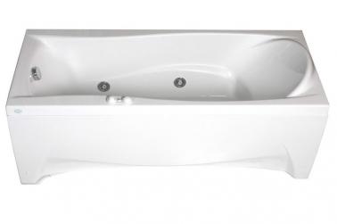 Ischia B без гидромассажа (золото)Ванны<br>Vis Vitalis Ischia B акриловая ванна. Стоимость указанна за ванну на раме без гидромассажа, слива перелива и фронтальной панели. Фурнитура золото.<br>