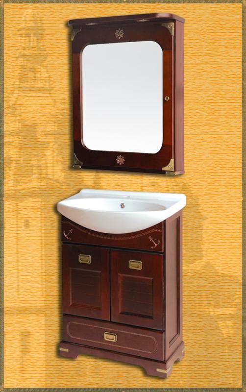 Ocean 65 НагалМебель для ванной<br>Мебель для ванной Два Водолея Ocean 65. Цвет нагал. В стоимость входит тумба. Все остальное приобретается отдельно.<br>