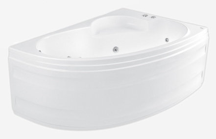 Klio Asym 150 х 100 L System SX1Ванны<br>Ванна Pool Spa серия Klio, в комплект входит: ванна и ножки.<br>Электронное управление. Водный массаж:<br>&amp;#8722; 4 нерегулируемые форсунки на спину c возможностью установки интенсивности струи воды.<br>&amp;#8722; 2 нерегулируемые форсунки на ступни c возможностью установки интенсивности струи воды.<br>&amp;#8722; 4 боковые форсунки с возможностью установки направления и интенсивности струи воды .<br>&amp;#8722; регуляция интенсивности массажа аэрацией.<br>&amp;#8722; датчик уровня воды, защищающий от сухого запуска насоса.<br>Регулятор интенсивности водного массажа. На борту ванны находится регулятор подачи воздуха, обогащающий водный массаж воздухом. Регулятор дозирует воздух в систему боковых, спинных и ножных форсунок. Подсветка.<br>