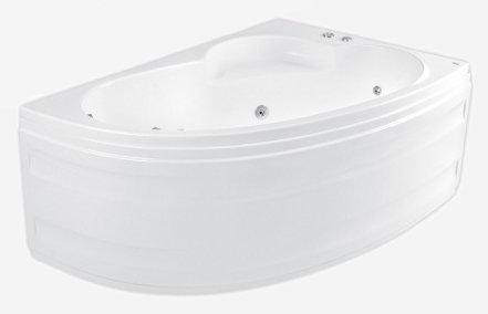 Klio Asym 150 х 100 R System SX2Ванны<br>Ванна Pool Spa серия Klio, в комплект входит: ванна и ножки.<br>Электронное управление. Водный массаж:<br>&amp;#8722; 4 нерегулируемые форсунки на спину c возможностью установки интенсивности струи воды.<br>&amp;#8722; 2 нерегулируемые форсунки на ступни c возможностью установки интенсивности струи воды.<br>&amp;#8722; 4 боковые форсунки с возможностью установки направления и интенсивности струи воды.<br>&amp;#8722; установка интенсивности массажа аэрацией.<br>&amp;#8722; датчик уровня воды, защищающий от сухого запуска насоса.<br>Воздушный массаж:<br>&amp;#8722; автоматическое осушение воздухом воздушной системы после купания (после слива воды включается на 2-3 мин. осушение воздушных каналов для удаления остатков воды)<br>Компрессор с подогревом воздуха и озонатором (опция). Регулятор интенсивности водного массажа. На борту ванны находится регулятор подачи воздуха, обогащающий водный массаж воздухом. Регулятор дозирует воздух в систему боковых, спинных и ножных форсунок. Подсветка.<br>