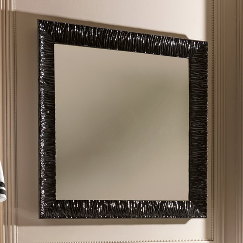 Retro 7364 черное 01Мебель для ванной<br>Зеркало Kerasan Retro 7364 Nero Lucido. Цвет черный.<br>