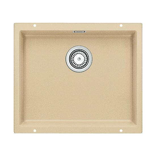 Subline 500-U 513953 шампаньКухонные мойки<br>Кухонная мойка Blanco Subline 500-U 513953. Максимальный объем чаши благодаря современным технологиям производства и установки. Элегантный и гигиеничный перелив C-overflow®. Для установки в шкаф шириной от 60 см. Установка под столешницу в один уровень.<br>