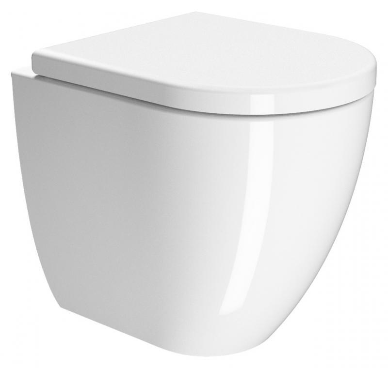 Pura 50 881911 белый глянцевыйУнитазы<br>Унитаз приставной GSI Pura 50 881911, выпуск в стену.<br>