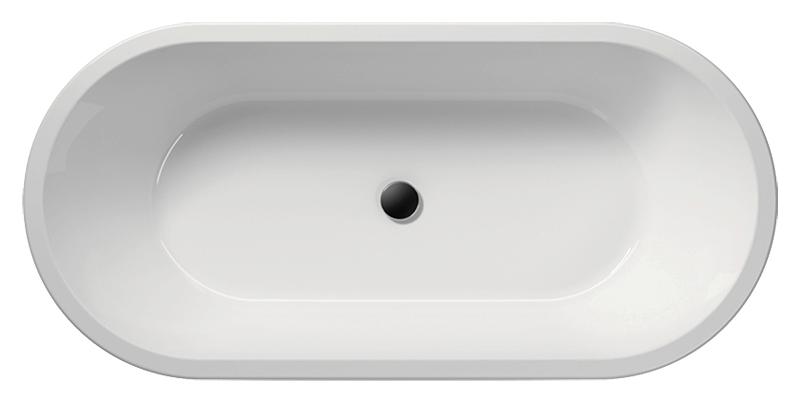 """Pura 190 VAPR90 белая глянцеваяВанны<br>Ванна акриловая GSI Pura 190 VAPR90 с сифоном и донным клапаном управляемым нажатием """"push-pull"""". В комплект поставки входят: чаша ванны, сифон и донный клапан.<br>"""