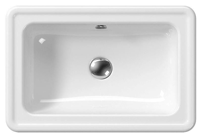 Classic 60/T 874911 белая глянцеваяРаковины<br>Раковина накладная GSI Classic 60/T 874911 с отверстием для слива-перелива.<br>