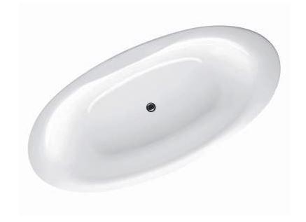 Presquile E6032 БелаяВанны<br>Ванна овальная Jacob Delafon Presquile E6032 с отверстием для слива в центре.  Цвет белый.<br>
