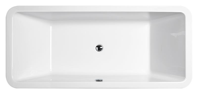 """Traccia 180 белая глянцеваяВанны<br>Ванна акриловая GSI Traccia 180 с донным клапаном управляемым нажатием """"push-pull"""". В комплект поставки входят: чаша ванны, сифон и донный клапан.<br>"""