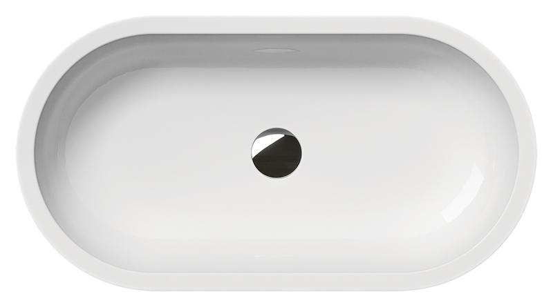 Panorama 70/T 6689011 белая глянцеваяРаковины<br>Раковина накладная GSI Panorama 70/T 6689011 без отверстия для слива-перелива для настенной или настольной сантехнической арматуры. Устанавливается на опорный кронштейн. Цена указана за раковину. Все остальное приобретается отдельно.<br>
