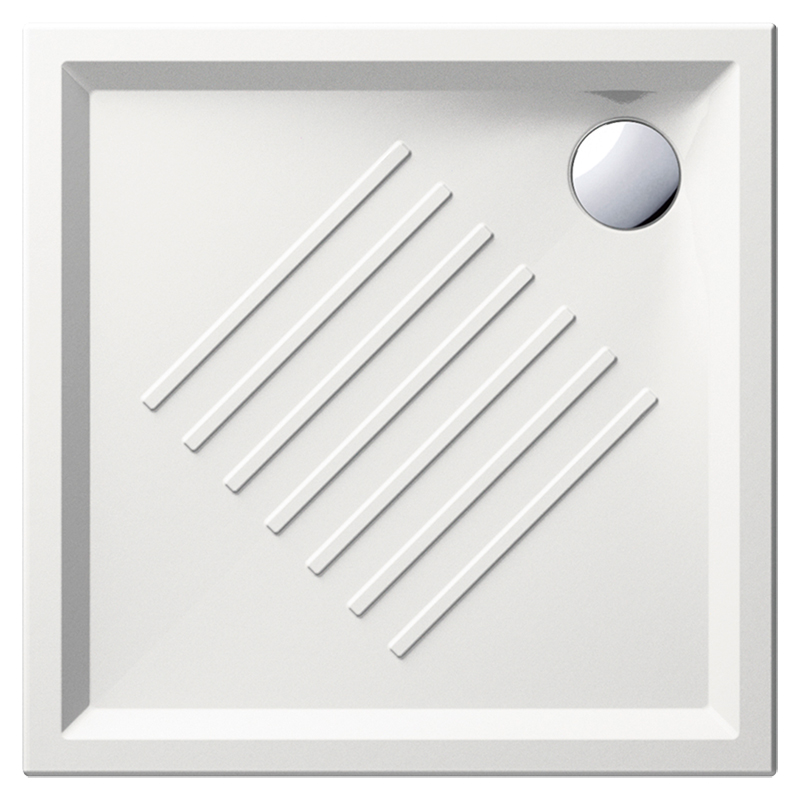 H6 90/Q 339711 белый глянцевыйДушевые поддоны<br>Душевой поддон GSI H6 90/Q 339711 с антискользящим рельефом в керамике.<br>