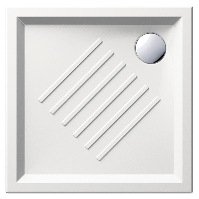 H6 80/Q 338611 белый глянцевыйДушевые поддоны<br>Душевой поддон GSI H6 80/Q 338611 с антискользящим рельефом в керамике.<br>