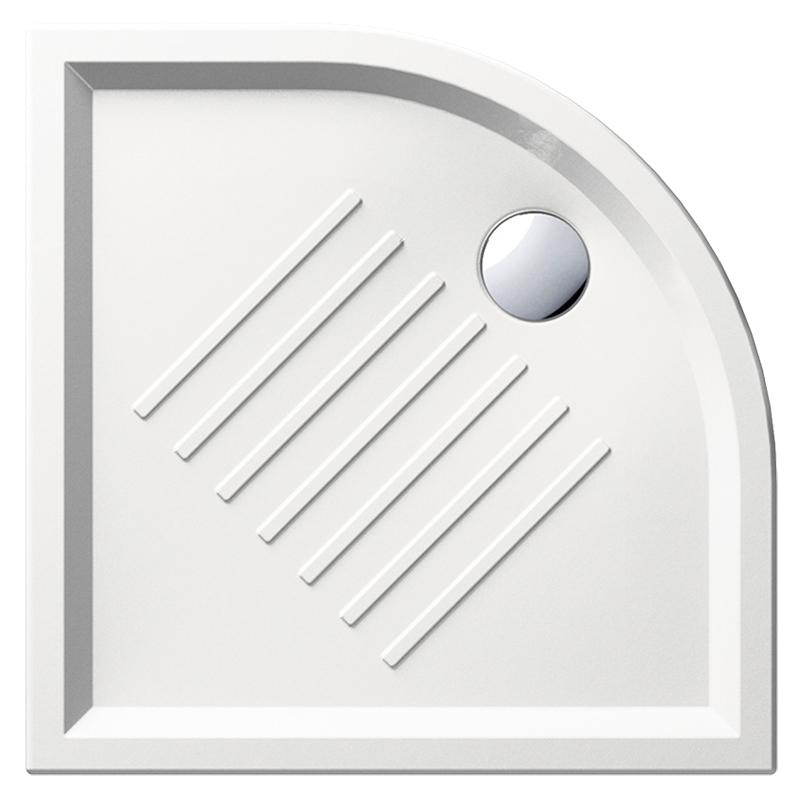 H6 90/A 349711 белый глянцевыйДушевые поддоны<br>Душевой поддон GSI H6 90/A 349711 с антискользящим рельефом в керамике.<br>