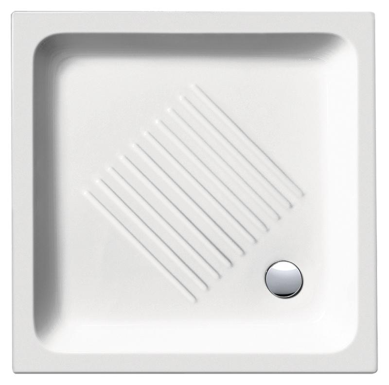 H11 90/Q 439011 белый глянцевыйДушевые поддоны<br>Душевой поддон GSI H11 90/Q 439011 с антискользящим рельефом в керамике.<br>