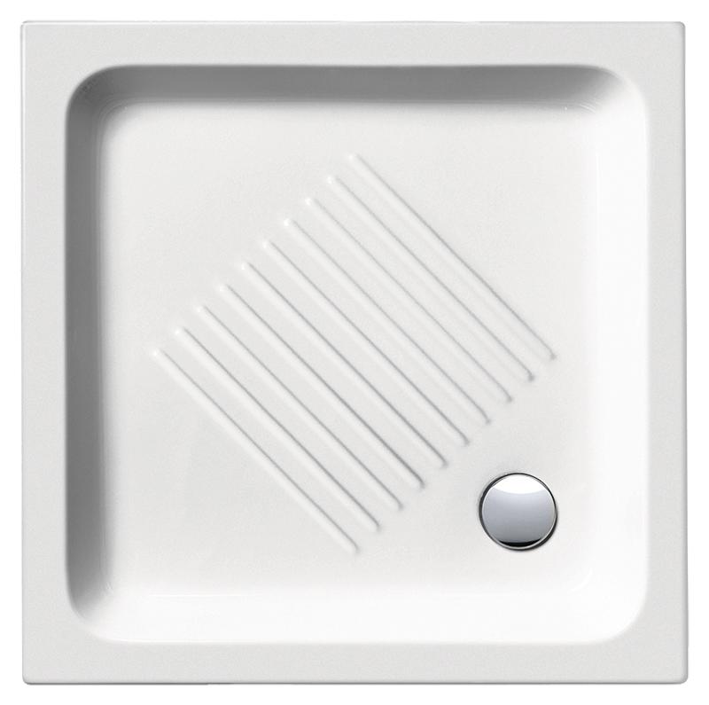 H11 80/Q 438011 белый глянцевыйДушевые поддоны<br>Душевой поддон GSI H11 80/Q 438011 с антискользящим рельефом в керамике.<br>