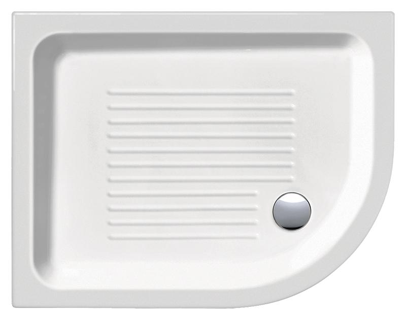 H11 90 459611 белый глянцевый, левыйДушевые поддоны<br>Душевой поддон GSI H11 90/S 459511 с антискользящим рельефом в керамике.<br>