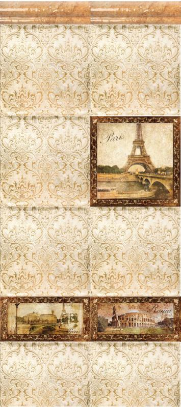 Керамическая плитка Style Tiles Marco Metalica A (Paris) 20х20 декор new paris style