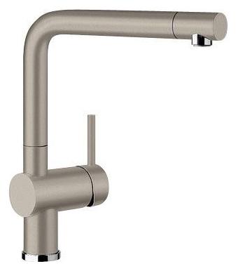 Linus 517622 Серый бежСмесители<br>Blanko Linus 517622. Однорычажный смеситель для кухни. Сочетает хромированную поверхность и инновационный материал Silgranit, цвет серый беж. Керамический картридж. Гибкая подводка стандарта 3/8. Допустимая толщина столешницы: 50 мм. Длина излива: 219 мм. Высота излива: 254 мм. Вращение излива на 360 градусов. Стабилизирующая пластина для увеличения устойчивости смесителя.<br>