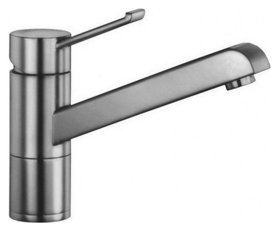Zenos 517804 Нержавеющая стальСмесители<br>Blanko Zenos 517804. Однорычажный смеситель для кухни, рычаг переключения расположен вверху над изливом. Цвет нержавеющая сталь. Керамический картридж. Гибкая подводка стандарта 3/8. Допустимая толщина столешницы: 55 мм. Длина излива: 181,5 мм. Высота излива: 120 мм. Вращение излива на 360 градусов. Запатентованный рассекатель, уменьшающий отложения налета от воды. Стабилизирующая пластина для увеличения устойчивости смесителя. Возможно комплектовать фильтром (117752) и защитной рамкой для шлангов смесителя (511920).<br>