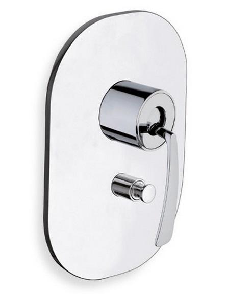 Bollicine BO 639 ХромСмесители<br>Однорычажный  смеситель для душа/ванны Cristina Bollicine BO 63951  на два выхода воды, только внешняя часть. Встраиваемый в стену монтаж. Внутренний механизм PD43551 в комплект поставки на входит и заказывается дополнительно.<br>