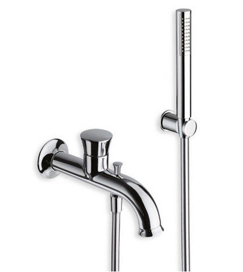 Fontana FN 100 ХромСмесители<br>Однорычажный смеситель для ванны Cristina Fontana FN 10051 встраиваемого монтажа. В комплекте с ручным душем с защитой от известковых отложений, душевым шлангом 150 см, с настенным держателем лейки.<br>