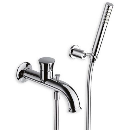 Fontana FN 101 ХромСмесители<br>Однорычажный смеситель для ванны Cristina Fontana FN 10151 встраиваемого монтажа. В комплекте с ручным душем с защитой от известковых отложений, душевым шлангом 150 см, с регулируемым настенным держателем лейки.<br>