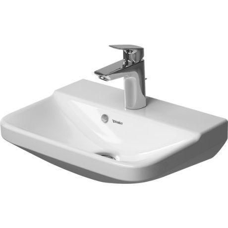 P3 Comforts 0716450000 БелыйРаковины<br>Раковина керамическая Duravit P3 Comforts  прямоугольной формы, включая выпуск с керамической крышкой.<br>