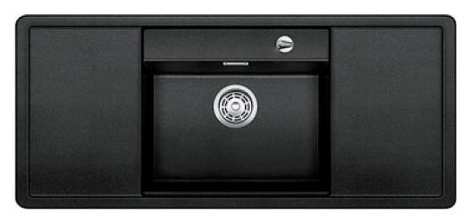 Alaros 6 S 516556 АнтрацитКухонные мойки<br>Кухонная мойка Blanco Alaros 6 S 516556 встраиваемая, прямоугольная, 1 чаша по центру, 2 крыла. Глубина чаши 205 мм. Монтаж вровень со столешницей. Для установки в шкаф шириной от 60 см. 5 размеченных отверстий для смесителя или аксессуаров. Материал SILGRANIT PuraDur 2, перелив система C-overflow, система PuraDur 2 против грязи и налета на поверхности мойки, система против царапин на поверхности мойки. В комплекте разделочная доска из черного безопасного стекла.<br>