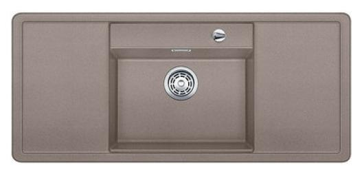 Alaros 6 S 517284 Серый бежКухонные мойки<br>Кухонная мойка Blanco Alaros 6 S 517284 встраиваемая, прямоугольная, 1 чаша по центру, 2 крыла. Глубина чаши 205 мм. Монтаж вровень со столешницей. Для установки в шкаф шириной от 60 см. 5 размеченных отверстий для смесителя или аксессуаров. Материал SILGRANIT PuraDur 2, перелив система C-overflow, система PuraDur 2 против грязи и налета на поверхности мойки, система против царапин на поверхности мойки. В комплекте разделочная доска из белого безопасного стекла.<br>Рекомендуется комплектовать: смеситель (516672). Возможно комплектовать: поддон (223166), решетка (225353), накладка на сливное отверстие (517666), система сортировки (516571).<br>