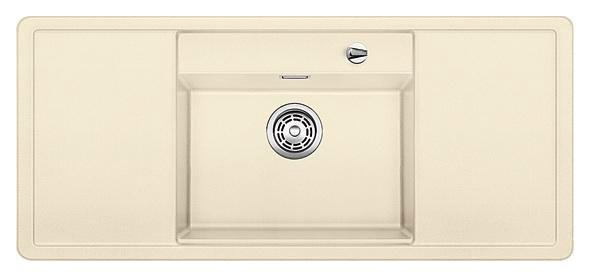 Alaros 6 S 516724 ЖасминКухонные мойки<br>Кухонная мойка Blanco Alaros 6 S 516724 встраиваемая, прямоугольная, 1 чаша по центру, 2 крыла. Глубина чаши 205 мм. Монтаж вровень со столешницей. Для установки в шкаф шириной от 60 см. 5 размеченных отверстий для смесителя или аксессуаров. Материал SILGRANIT PuraDur 2, перелив система C-overflow, система PuraDur 2 против грязи и налета на поверхности мойки, система против царапин на поверхности мойки. В комплекте разделочная доска из белого безопасного стекла.<br>