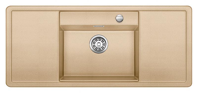 Alaros 6 S 516725 ШампаньКухонные мойки<br>Кухонная мойка Blanco Alaros 6 S 516725 встраиваемая, прямоугольная, 1 чаша по центру, 2 крыла. Глубина чаши 205 мм. Монтаж вровень со столешницей. Для установки в шкаф шириной от 60 см. 5 размеченных отверстий для смесителя или аксессуаров. Материал SILGRANIT PuraDur 2, перелив система C-overflow, система PuraDur 2 против грязи и налета на поверхности мойки, система против царапин на поверхности мойки. В комплекте разделочная доска из белого безопасного стекла.<br>Рекомендуется комплектовать: смеситель (516672). Возможно комплектовать: поддон (223166), решетка (225353), накладка на сливное отверстие (517666), система сортировки (516571).<br>