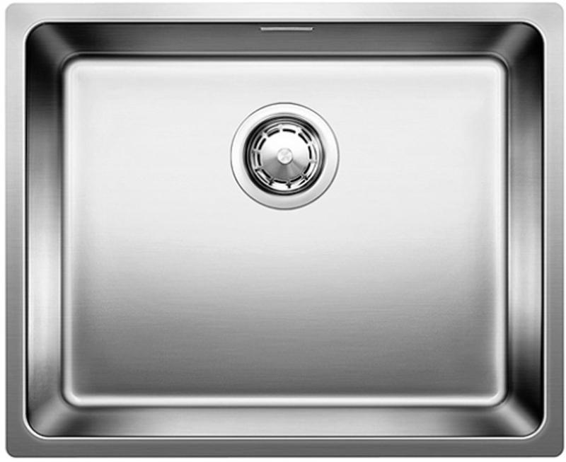 Andano 500-U 518313 Нержавеющая сталь с зеркальной полировкойКухонные мойки<br>Кухонная мойка Blanco Andano 500-U 518313 встраиваемая, прямоугольная. Монтаж подстольный. Глубина чаши 190 мм. Без крыла.  Для установки в шкаф шириной от 600 мм. Материал нержавеющая cтaль 18/10 c зepкaльнoй пoлиpoвкoй. Большой объем и максимальная полезная площадь дна чаши. В комплекте корзинчатый вентиль.<br>