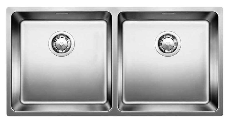 Кухонная мойка Blanco Andano 400/400-IF 518328 Нержавеющая сталь с зеркальной полировкой
