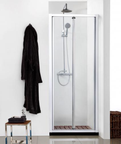 Душевая дверь в нишу Bravat Line 100x200 BD100.4121A Профиль хром, стекло прозрачное душевая дверь в нишу migliore diadema 80x195 l профиль бронза стекло прозрачное