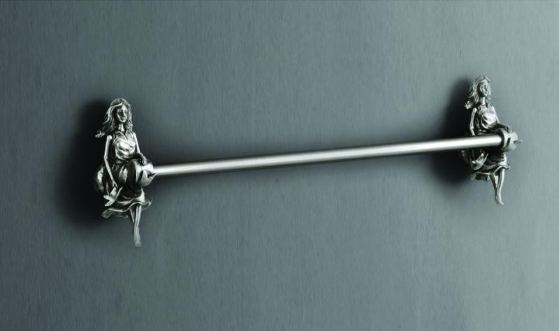 Athena AM-B-0617-T СереброАксессуары для ванной<br>Держатель для полотенец Art&amp;Max Athena AM-B-0617-T.<br>