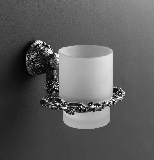 Sculpture AM-0684-T СереброАксессуары для ванной<br>Держатель для щетки Art &amp; Max Sculpture AM-0684-T, стакан выполнен из стекла.<br>