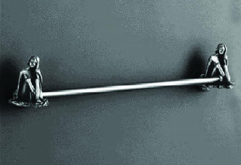 Juno AM-B-0717-T СереброАксессуары для ванной<br>Держатель для полотенец Art&amp;Max Juno AM-B-0717-T.<br>