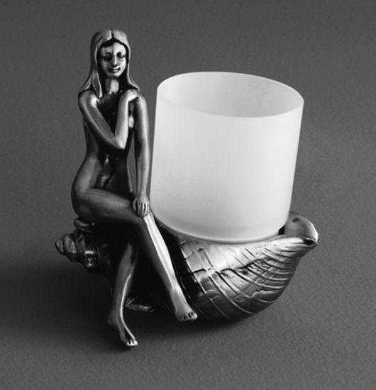 Juno AM-0071C-T СереброАксессуары для ванной<br>Стакан настольный Art &amp; Max Juno AM-0071C-T, стакан выполнен из стекла.<br>