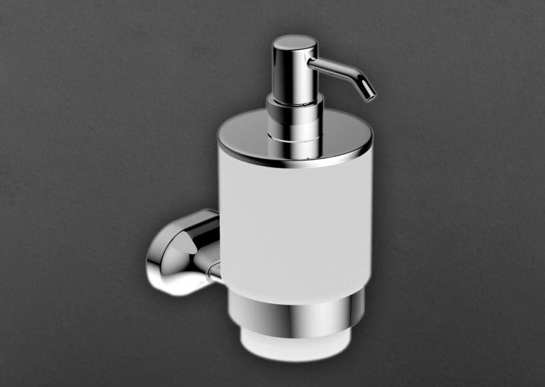 Ovale AM-4099Z ХромАксессуары для ванной<br>Дозатор для жидкого мыла Art &amp; Max Ovale AM-4099Z, ёмкость под мыло выполнена из стекла.<br>