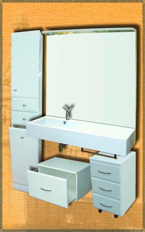 Стилло правая белыйМебель для ванной<br>Мебель для ванной Два Водолея Стилло. Цвет белый. В стоимость входит раковина правая. Все остальное приобретается отдельно.<br>